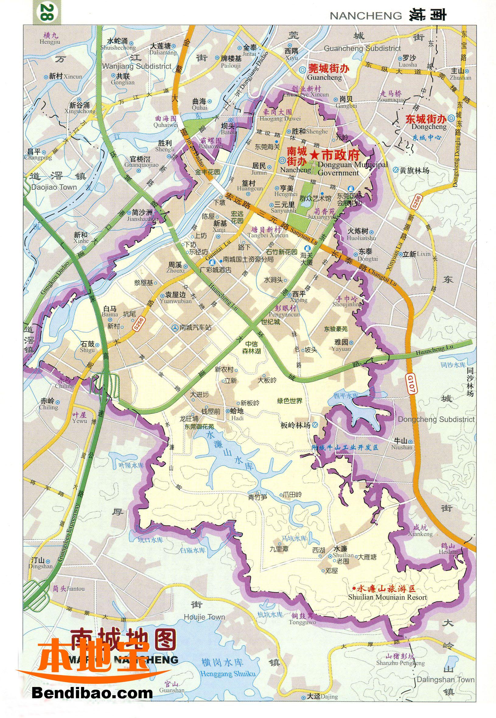 东莞南城地图